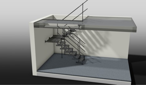 Halbschwung Treppe (2 x ¼ Schwung)