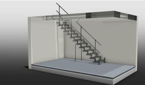 Einläufige gerade Treppe